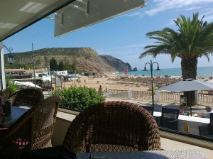 Luz beach from La Conche Restaurant