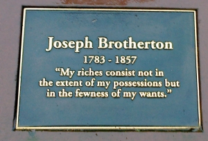 Joseph Brotherton Plaque