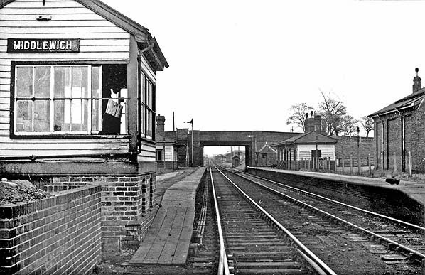 MIDDLEWICH STATION 1963  H B Priestley